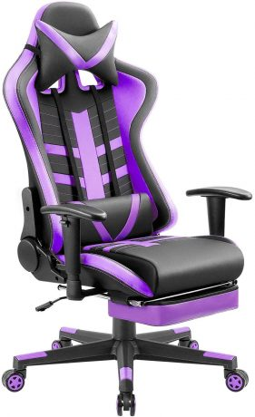 Homall Computer Footrest Racing Style Gaming Chair, Violet